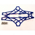 HPI Wheely King Aluminum Chassis Upgrade Kit (Blue)
