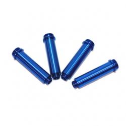 CNC Machined Aluminum Shock Bodies for Axial AX10 (4 pcs) Blue