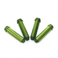 CNC Machined Aluminum Shock Bodies for Axial AX10 (4 pcs) Green