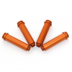 CNC Machined Aluminum Shock Bodies for Axial AX10 (4 pcs) Orange