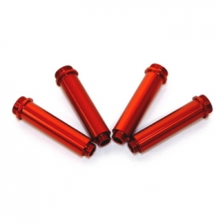 CNC Machined Aluminum Shock Bodies for Axial AX10 (4 pcs) Red