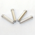 CNC Machined Aluminum Shock Bodies for Axial AX10 (4 pcs) Silver