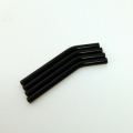 Custom Crawler Parts 30 deg. bend threaded suspension links (black)