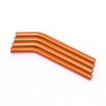 Custom Crawler Parts 30 deg. bend threaded suspension links (Orange)