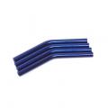 Custom Crawler Parts 30 deg. Middle bend Ver. II threaded suspension links (Blue)