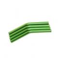 Custom Crawler Parts 30 deg. Middle bend Ver. II threaded suspension links (Green)