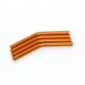 Custom Crawler Parts 30 deg. Middle bend Ver. II threaded suspension links (Orange)