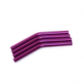 Custom Crawler Parts 30 deg. Middle bend Ver. II threaded suspension links (Purple)