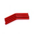 Custom Crawler Parts 30 deg. Middle bend Ver. II threaded suspension links (Red)