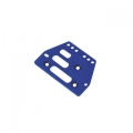 STRC CNC Machined Alum. Front or rear adj. 4 link Servo Plate for AX10 (Blue)