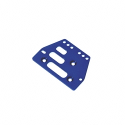 STRC CNC Machined Alum. Front or rear adj. 4 link Servo Plate for AX10 (Blue)
