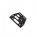 STRC CNC Machined Alum. Front or rear adj. 4 link Servo Plate for AX10 (Black)