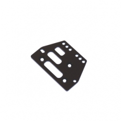 STRC CNC Machined Alum. Front or rear adj. 4 link Servo Plate for AX10/SCX10 (Black)