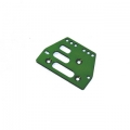 STRC CNC Machined Alum. Front or rear adj. 4 link Servo Plate for AX10 (Green)