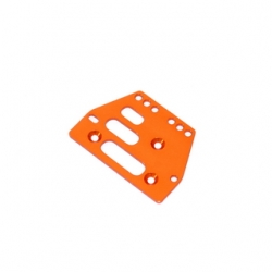 STRC CNC Machined Alum. Front or rear adj. 4 link Servo Plate for AX10 (Orange)