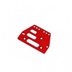 STRC CNC Machined Alum. Front or rear adj. 4 link Servo Plate for AX10 (Red)