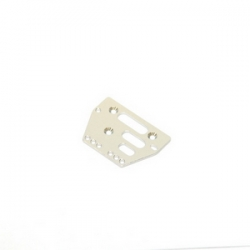 STRC CNC Machined Alum. Front or rear adj. 4 link Servo Plate for AX10/SCX10 (Silver)