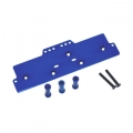 STRC CNC Machined Alum. Front adj. 4 link Servo/Battery Plate for AX10 (Blue)