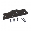 STRC CNC Machined Alum. Front adj. 4 link Servo/Battery Plate for AX10 (Black)
