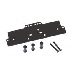 STRC CNC Machined Alum. Front adj. 4 link Servo/Battery Plate for AX10 (Black)