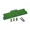 STRC CNC Machined Alum. Front adj. 4 link Servo/Battery Plate for AX10 (Green)