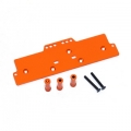 STRC CNC Machined Alum. Front adj. 4 link Servo/Battery Plate for AX10 (Orange)