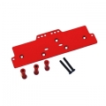 STRC CNC Machined Alum. Front adj. 4 link Servo/Battery Plate for AX10 (Red)