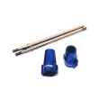 STRC Axial Aluminum Lock-out and stainless steel driveshaft kit (blue)
