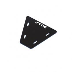 STRC CNC Machined Alum. electronics mounting plate for AX10 (Black)