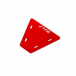 STRC CNC Machined Alum. electronics mounting plate for AX10 (Red)