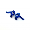 Precision CNC Machined Aluminum Steering Knuckles for Axial AX10 (Blue)