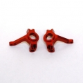 Precision CNC Machined Aluminum Steering Knuckles for Axial AX10 (Red)