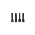 CNC Machined Aluminum Body Posts set for Axial AX10 Rock Crawler (4 pcs) Black