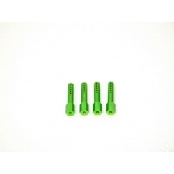 CNC Machined Aluminum Body Posts set for Axial AX10 Rock Crawler (4 pcs) Green