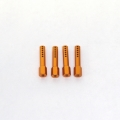 CNC Machined Aluminum Body Posts set for Axial AX10 Rock Crawler (4 pcs) Orange