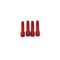 CNC Machined Aluminum Body Posts set for Axial AX10 Rock Crawler (4 pcs) Red