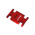 CNC Machined Aluminum Center Transmission Mounting Plate for Axial AX10 (Red)
