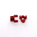 Precision CNC Machined Aluminum Hub Carriers for Axial Scorpion (Red)