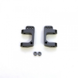 CNC Machined Precision Alum. Caster Blocks for SC10/T4/B4 (Gun Metal, limited) 1 pair