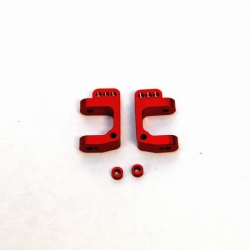 CNC Machined Precision Alum. Caster Blocks for SC10/T4/B4 (Red)
