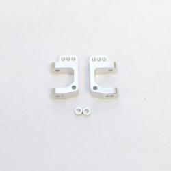 CNC Machined Precision Alum. Caster Blocks for SC10/T4/B4 (Silver)