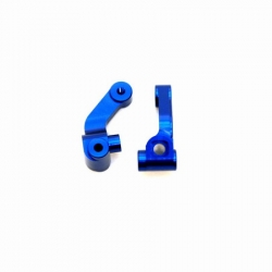 CNC Machined Precision Alum. Steering knuckle for SC10/T4/B4 (Blue)