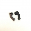 CNC Machined Precision Alum. Steering knuckle for SC10/T4/B4 (Gun Metal, Limited) 1 pair