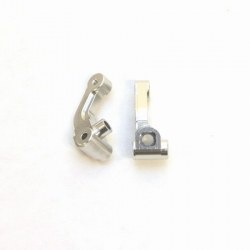 CNC Machined Precision Alum. Steering knuckle for SC10/T4/B4 (Silver)