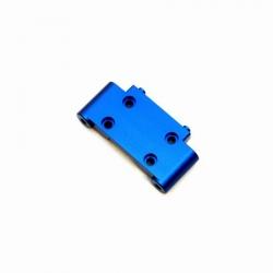 CNC Machined Precision Alum. Front Bulkhead for SC10/T4/B4 (Blue)