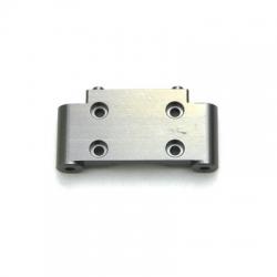 CNC Machined Precision Alum. Front Bulkhead for SC10/T4/B4 (Gun Metal)