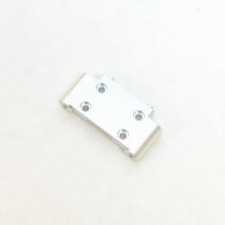 CNC Machined Precision Alum. Front Bulkhead for SC10/T4/B4 (Silver)