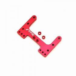CNC Machined Precision Alum. Rear Brace for SC10/T4/B4 (Red)