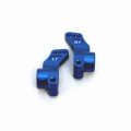 CNC Machined Precision Alum. Rear Hub Carriers (1 deg.) SC10/T4/B4 (Blue)