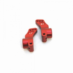 CNC Machined Precision Alum. Rear Hub Carriers (1 deg.) SC10/T4/B4 (Red)